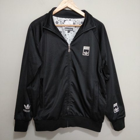 online store e0563 408f2 Black Adidas Adicolor track jacket by Bill McMullen Shiny 3