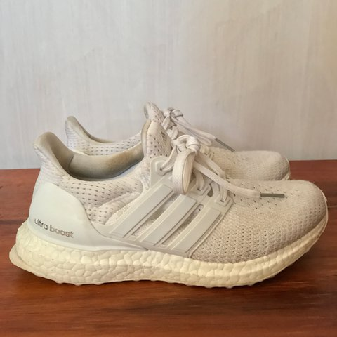 9055eb223e3a4 Women s triple white ultra boost Condition  adidas    Item - Depop