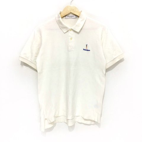 d574ea6a @sevenheaven711. 29 days ago. Manchester, United Kingdom. Vintage YSL Yves  Saint Laurent Paris Pour Homme Embroidery Logo Casual Polo Collar Tee Shirt