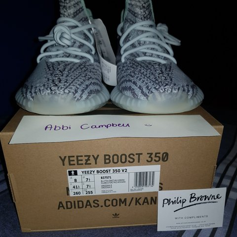 dd4f5a5510dd2 Adidas Yeezy Boost 350 V2 Blue Tint Size UK 7.5 (US 8) from - Depop