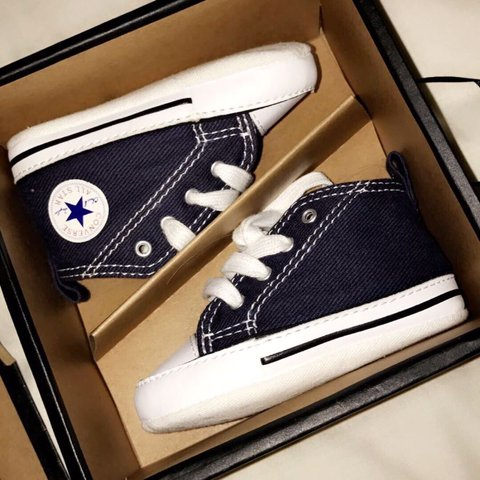 5083ef547b718f Brand new navy blue children baby converses. A size UK 2. IN - Depop