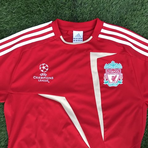 cdec8f450be Vintage 90s Liverpool Adidas football kit   jersey. Bright a - Depop