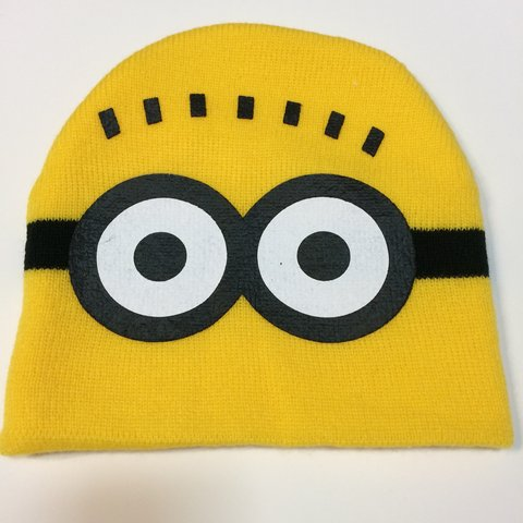 Minions Despicable Me Hatbeanie 2 Eyes On Front Of Hat Depop