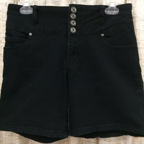 fa342cd9 Silver Crush High Waisted Shorts, color: black, size: 9/10, - Depop
