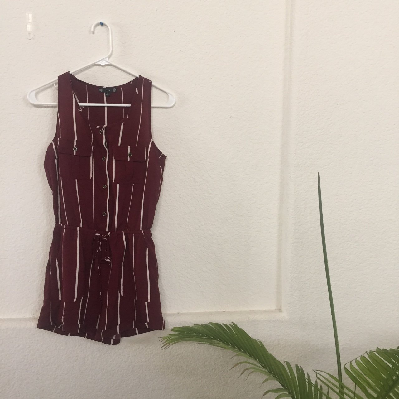 d644cc458ed Maroon and white striped romper!