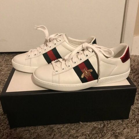 4b76d069d81 @kaarissmaaa. 8 months ago. Ontario, United States. 🐝 Gucci Ace  Embroidered Sneaker ...