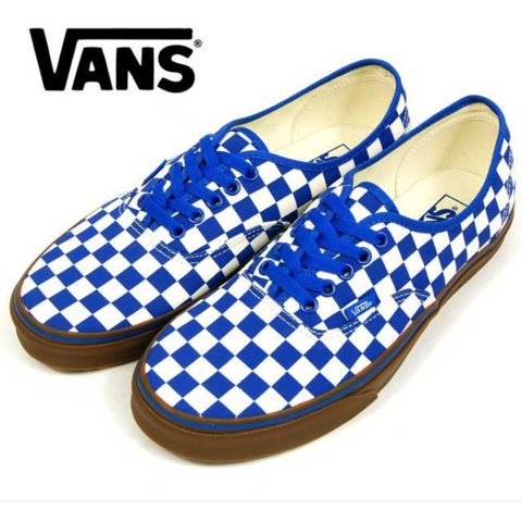 2f7f80cd646b6c Brand New Classic Blue Checkered Vans Lace Up Men s 10 never - Depop