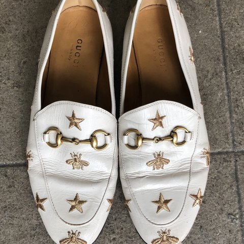 a878ccd162f 100% authentic Gucci Jordaan embroidered leather loafers. a - Depop