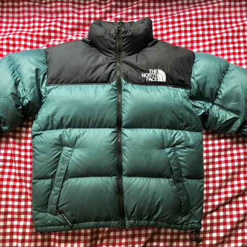 7b4107034e0b The North Face Nuptse Puffer Jacket. A soft hunter green Tag - Depop