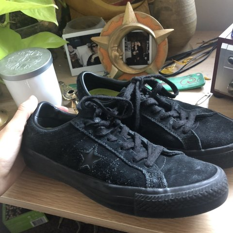 04bf9d31233f All black converse one star pros skate shoes. Has super good - Depop