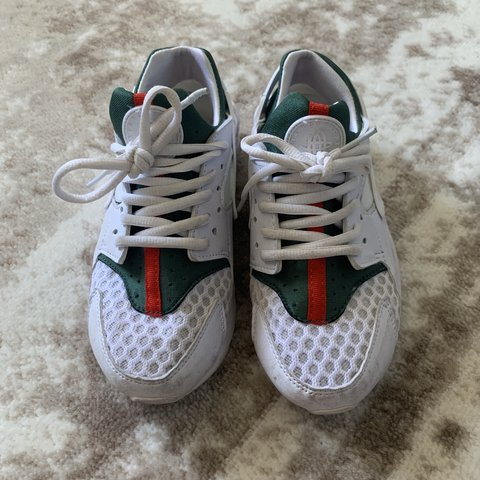 c911a1a05f4c0 Gucci huaraches shoes Size 6.5 but fits like a size 5 For - Depop