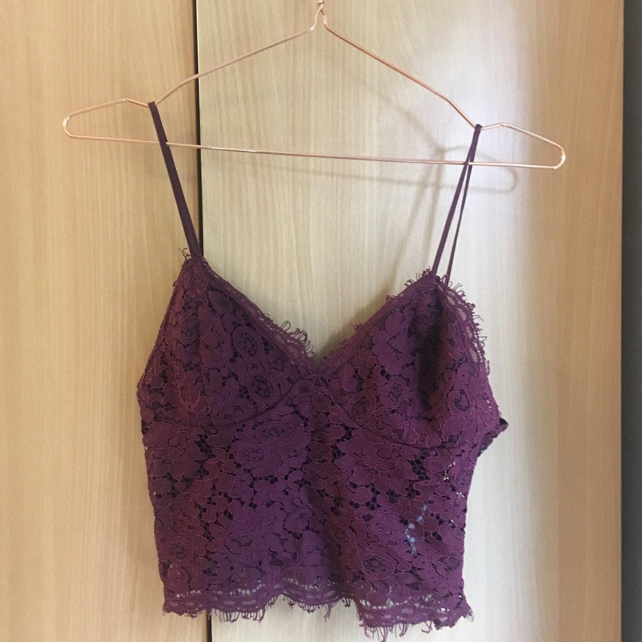 553ac9d9aa4 Primark lace bralette in burgundy. •Love this but just it - Depop