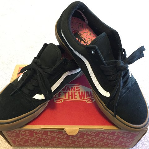e5ddf59f32f VANS OLD SKOOL PRO Black Gum Worn once to school. Still in - Depop