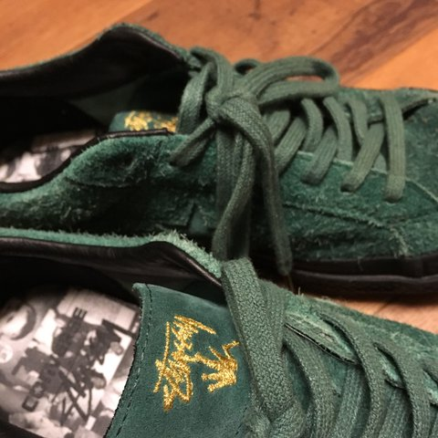 25f051226a16 Converse x Stussy One Star 74 OX Hunter Green Black size Not - Depop