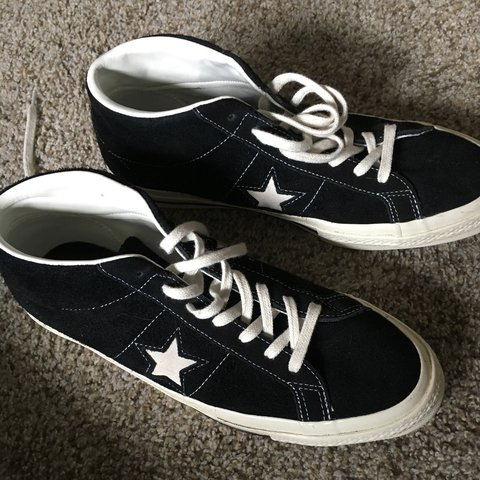 66a284f0853 Converse cons One Star Pro Suede Mid Top -Wore once after - Depop