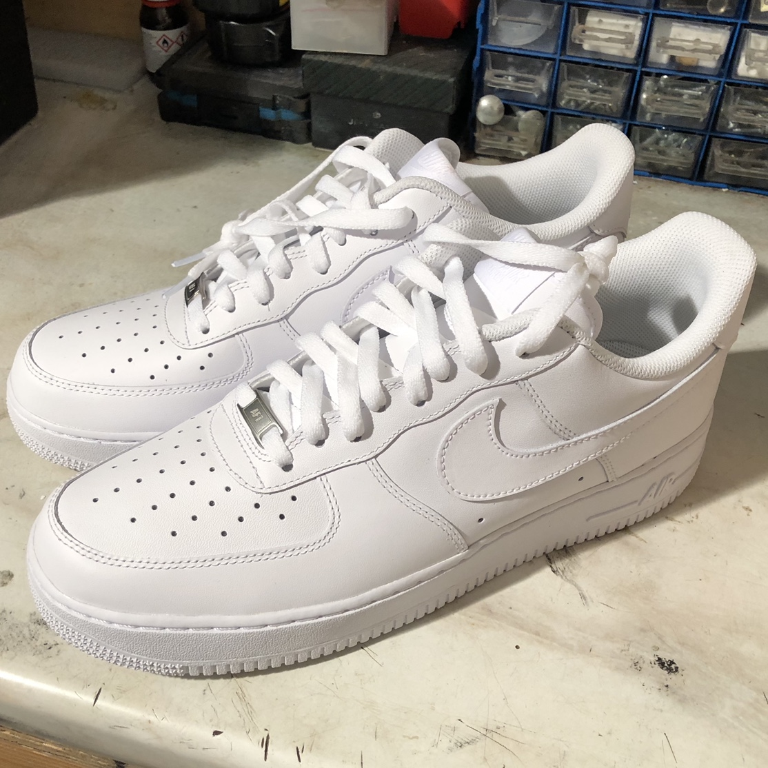 BRAND NEW - Mens White Nike Air Force 1, Size 11.... - Depop