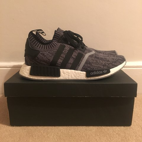 1639ee936 Adidas NMD R1  SCHOENEN AI CAMO  black and white 1 of 900 - Depop