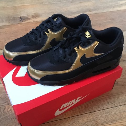 5c4ed45cf6d Nike Air max 90 Black and metallic gold Brand new Never worn - Depop