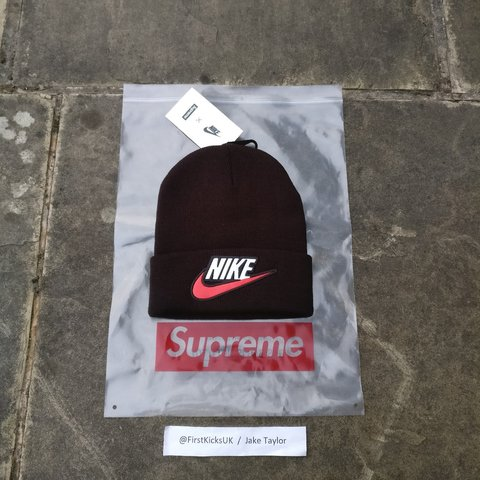 0f718184193 Supreme x Nike Beanie Size  One size Colour  10 10 - Never - Depop