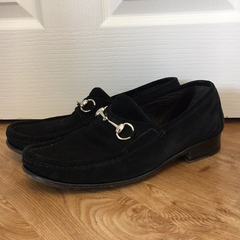 ddf950b90 @grdclothing. 5 months ago. Wetherby, United Kingdom. Gucci Mens Black  Suede Horsebit Loafers For Sale Size 8 E ...
