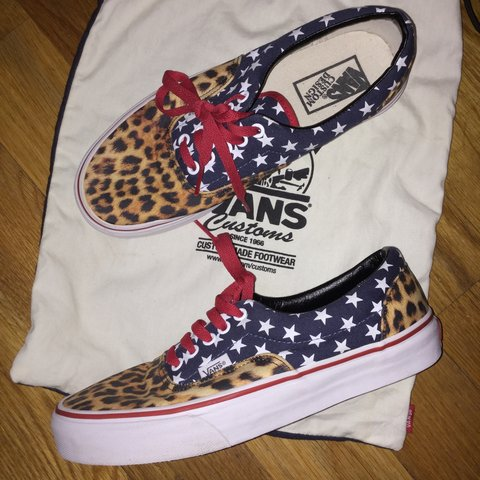 e50f5a83211c10 Vans Era  Cheetah Liberty  Custom - Men s size 8 US Women s - Depop