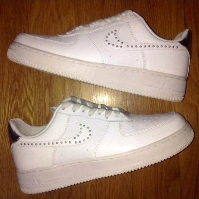 1d2576f33a52f @uniquelife. 2 months ago. Boston, United States. Nike Air Force One (1)  All White Patent Leather Sneaker - Women's ...