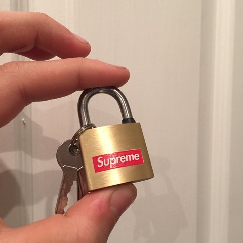 0e51344c5d43 Sick mini Supreme brass padlock accessory. Comes with 3 PM - Depop