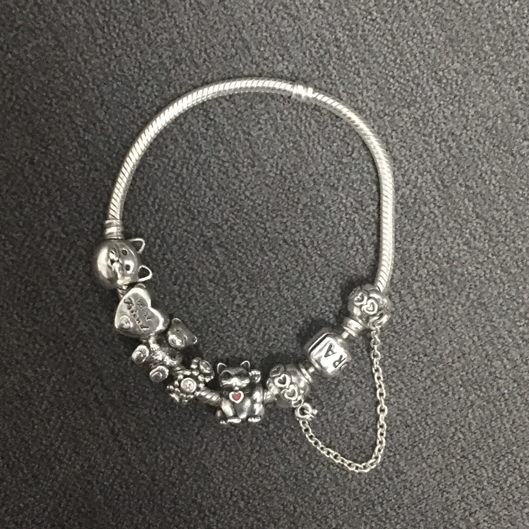 Silver Pandora Bracelet With Charms Happy To Sell Depop