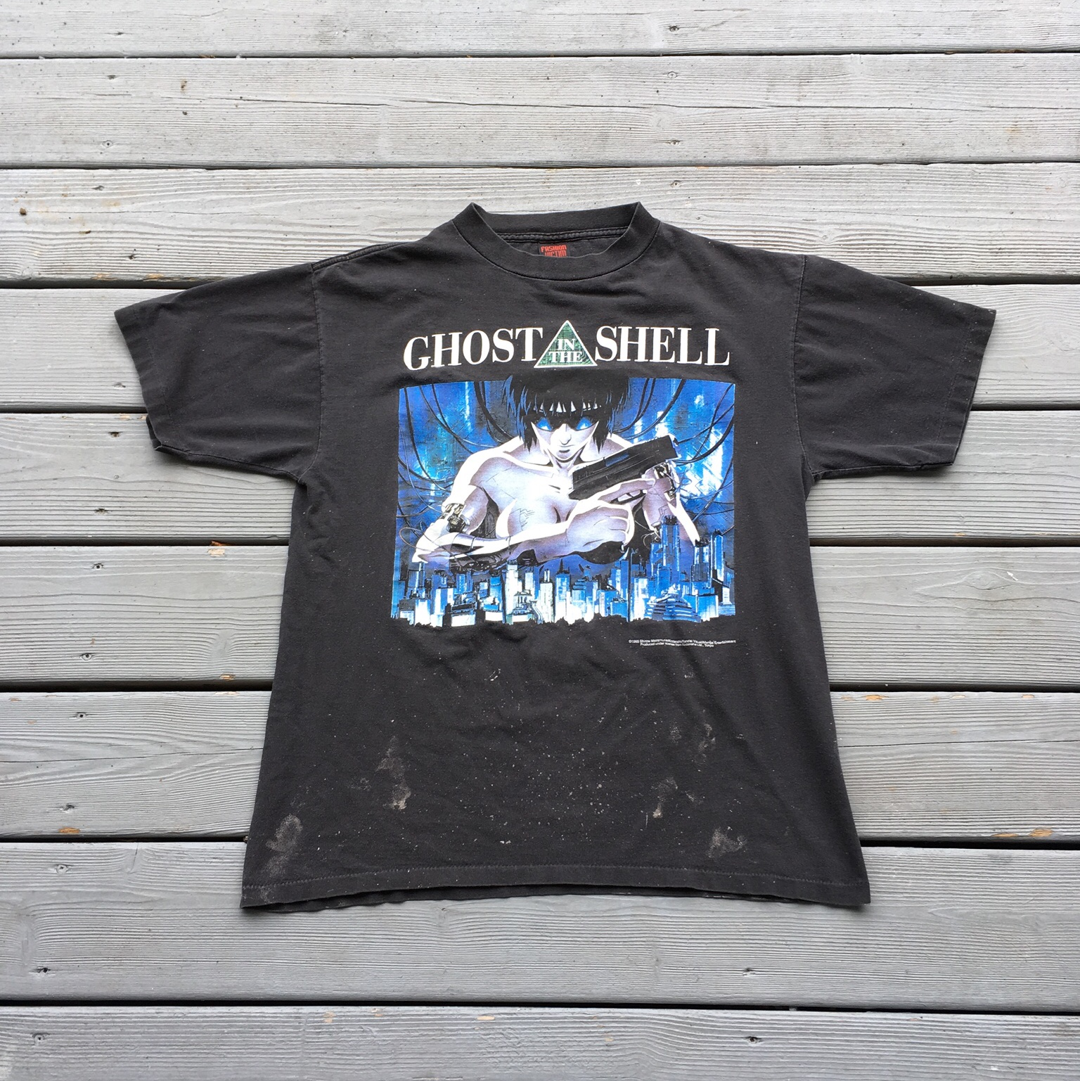 Vintage 1995 Ghost In The Shell T Shirt Akira Neon Depop