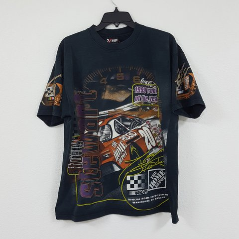 Vintage Tony Stewart 1999 Rookie Of The Year T Shirt