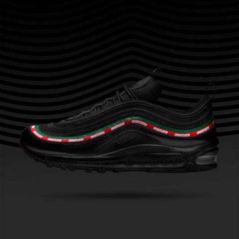 meet c8aee dffe5  hypebeastsupplier. 2 years ago. London, UK. UNDFTD x Nike Air Max 97 OG  Black, Gucci colours, Undefeated Size 10