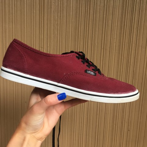dd41cc9c822695 price reduced    authentic lo pro vans in tawny port  a - Depop