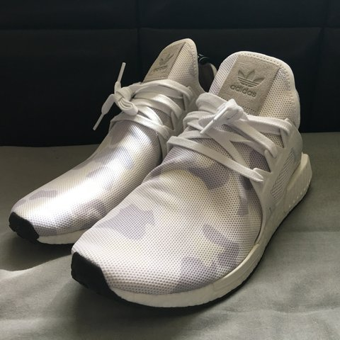 ca108e13ab33c New in box. Adidas NMD XR1 white duck camo. Size 11.5 but if - Depop