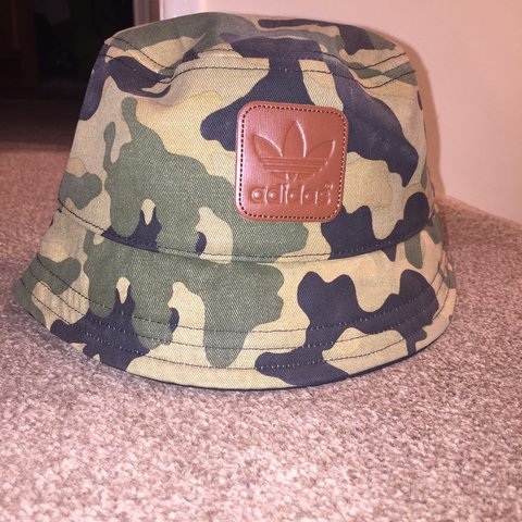 7e1ed2f51ff68 Adidas Camo Bucket Hat. One Size Fits All. Never been worn. - Depop