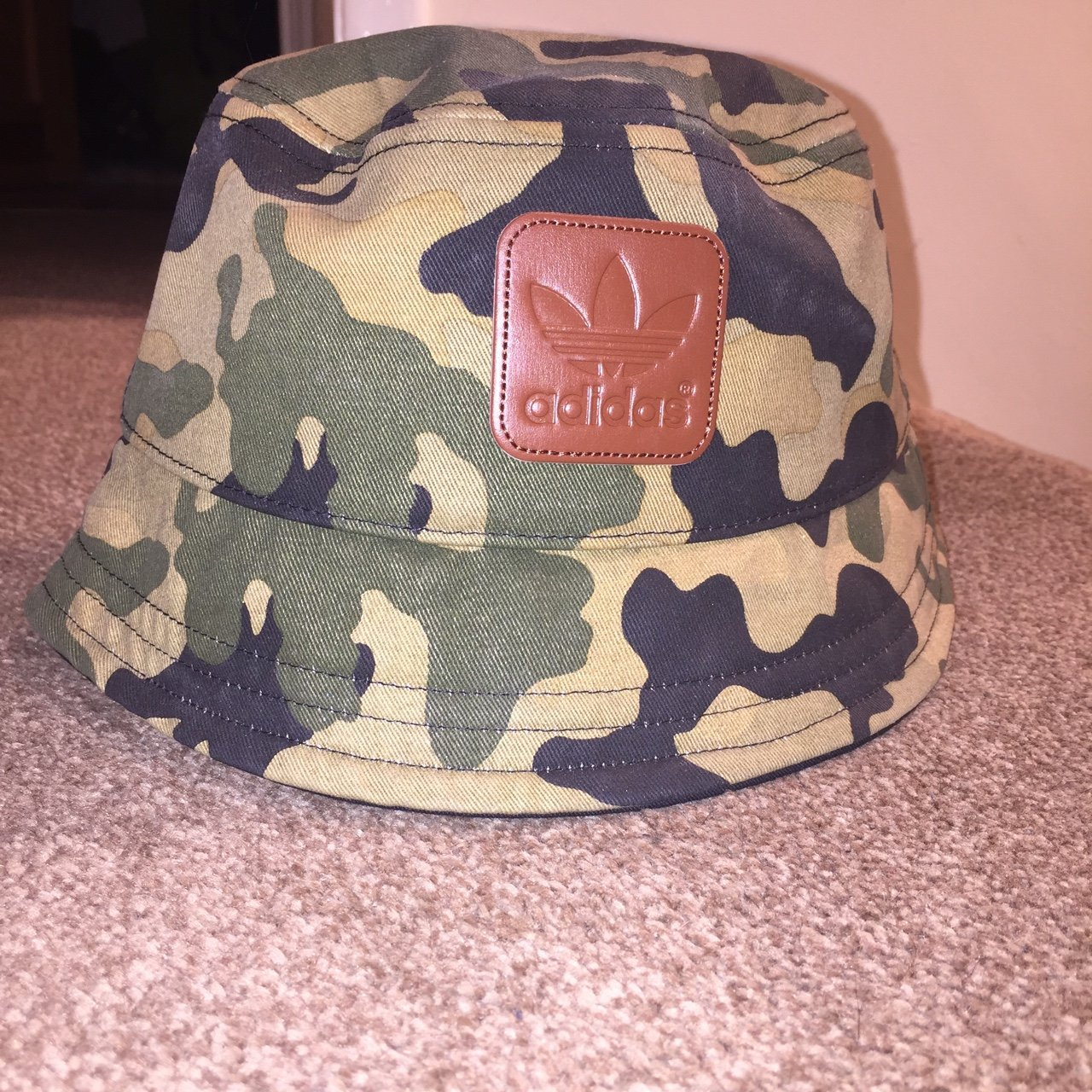 633f756d631 Adidas Camo Bucket Hat. One Size Fits All. Never been worn. - Depop