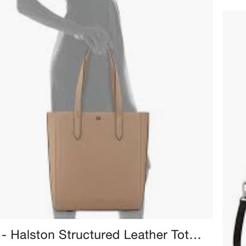 1fc9b6fee6 NWOT Halston Heritage Structured Leather Tote Bag