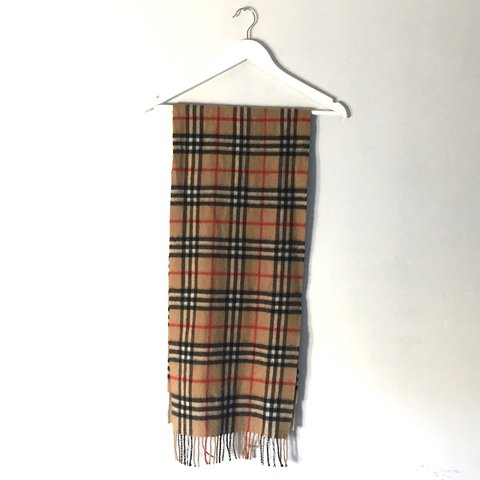 097faaad703c7 Burberry nova check plaid scarf in red black and camel
