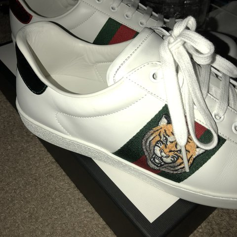 ced5bc6af92  poopfacemcgee. 11 months ago. United States. Gucci ace sneaker with tiger  embroidery.