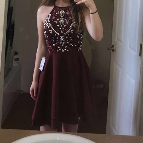 0ae65cd1caf Maroon homecoming dress B Darlin brand as you can see the on - Depop
