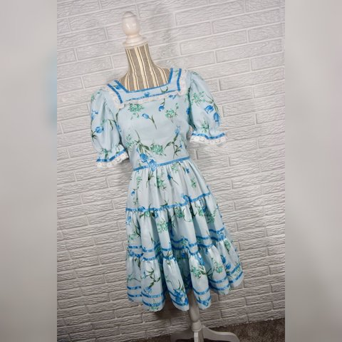 Kids' Clothes, Shoes & Accs. Dresses Green Floral Dress With White Ribbon