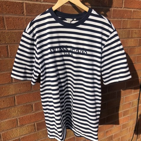 ce7de17d5a @callum00013. 5 days ago. Exeter, United Kingdom. Guess x a$ap Rocky navy  blue and white striped tshirt 9/10 condition