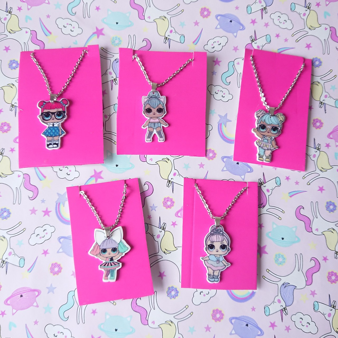 5 lol doll necklaces  Ideal stocking fillers  Party    - Depop