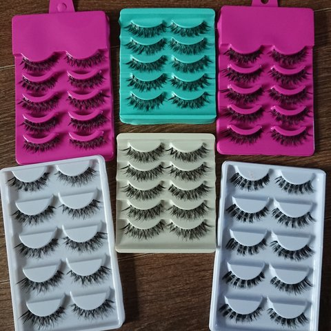 3cfb9e1fe52 Lash bundle Fab quality wispy lashes. Long lasting lashes. X - Depop