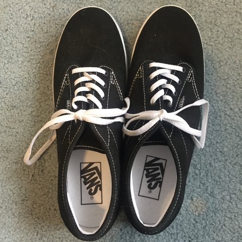 c90a2885aa brand new black lace up vans! Never worn. Super comfy and 7 - Depop