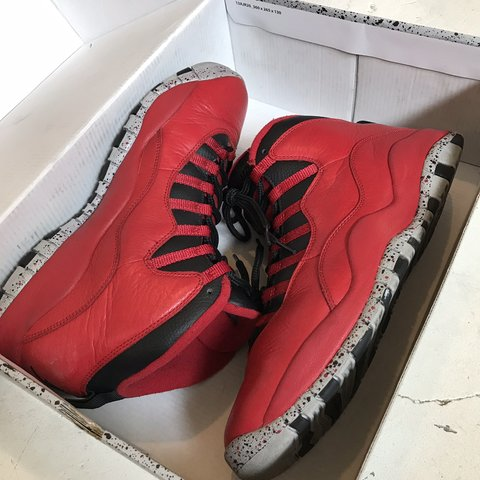 "2f16bd4d060 @josh_robles. 2 months ago. Reno, United States. Air Jordan 10's ""Bulls on  Broadway"" Colorway! Men's Size 10.5"