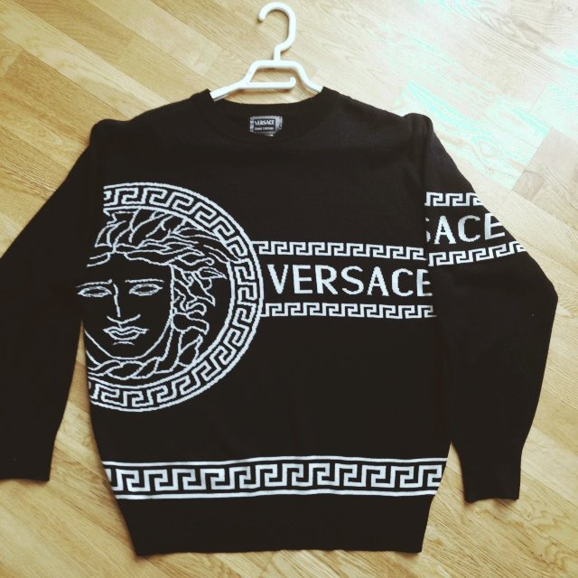 black versace jumper