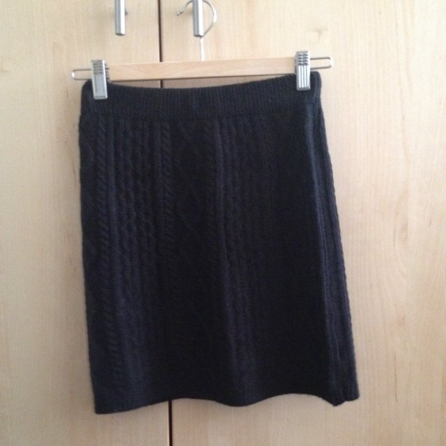 09592bd1b6 Size 10 #black #knitted #mini #skirt from tesco. Super comfy - Depop