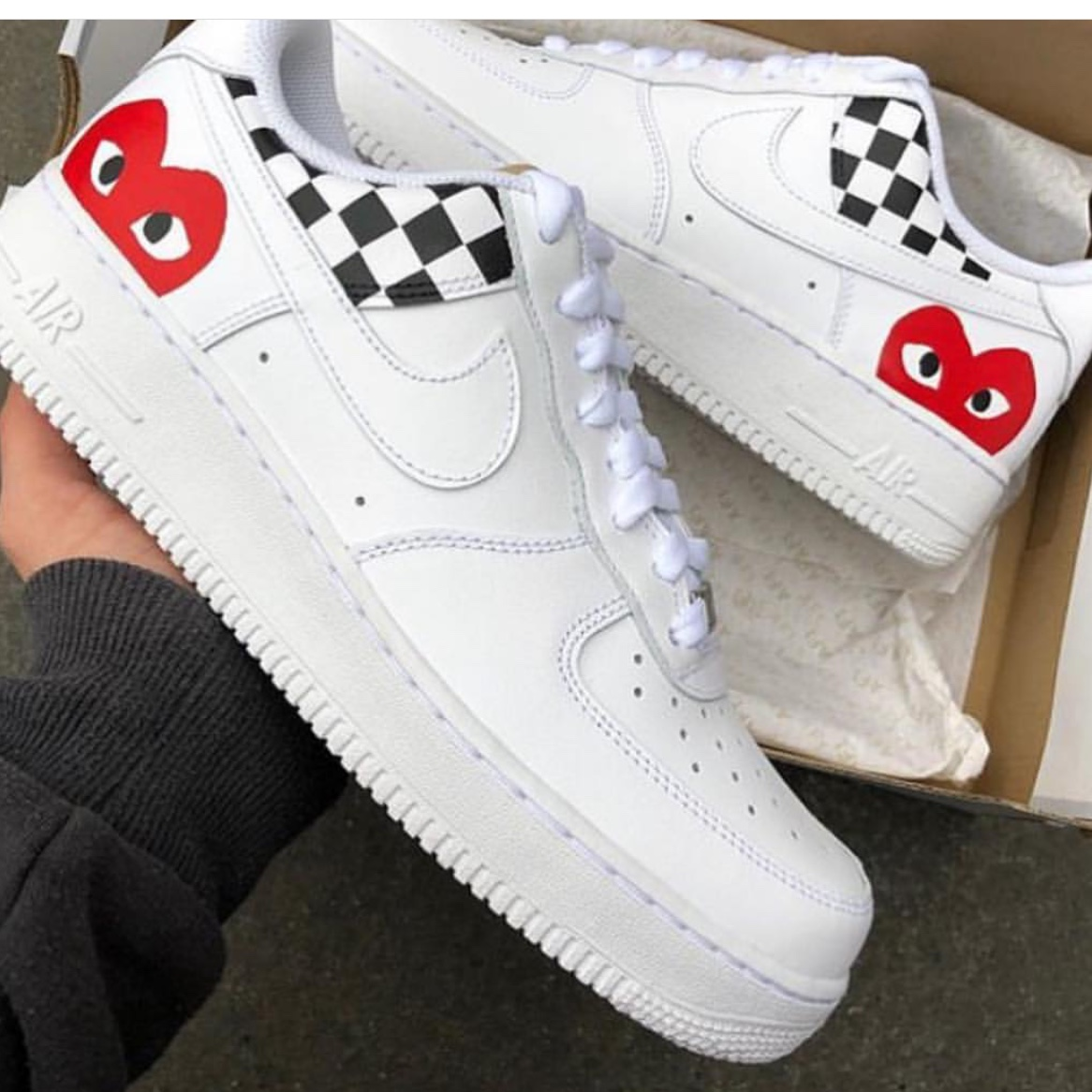 nike air force 1 custom comme des garcons