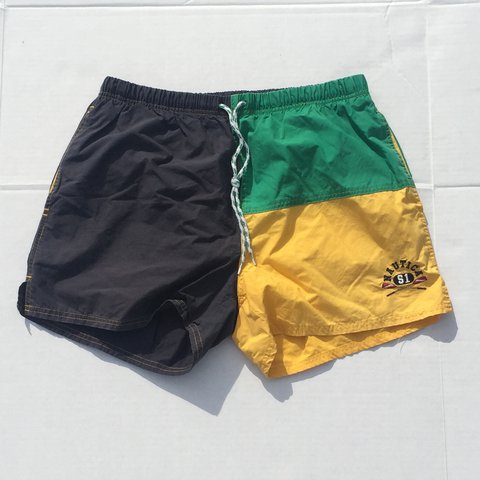 153e4c1ac6 @killab. 2 years ago. Mount Vernon, United States. Men's Medium vintage  Nautica swim trunks in the Jamaican ...