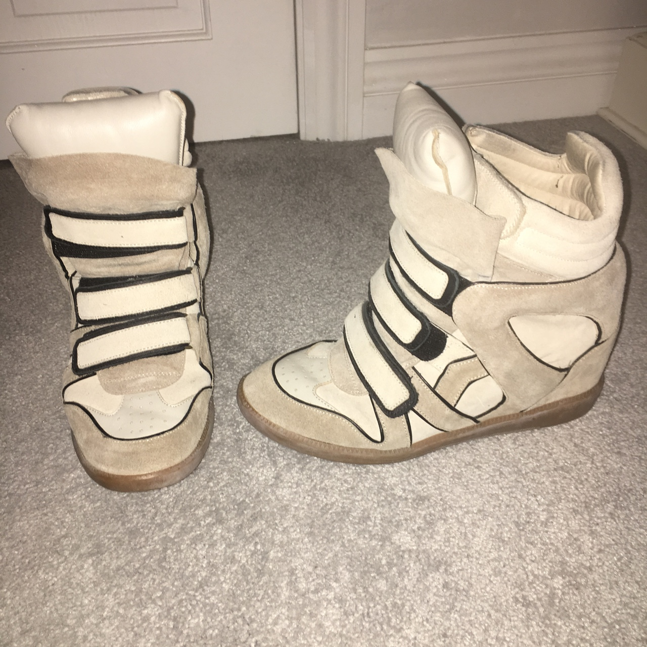a3051773627 @ellamayfysh21. last year. Stamford, United Kingdom. Cream and black Isabel  Marant Sneakers size 7. Only worn ...